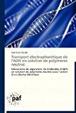 Transport �lectrophor�tique de l'Adn en Solution de Polym�res Neutres  N/A 9783838176451 Front Cover