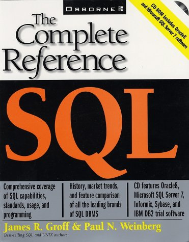 SQL The Complete Reference  1999 9780072118452 Front Cover