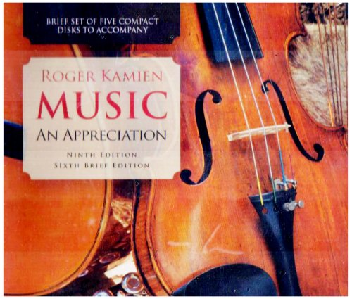 Music An Appreciation 9th 2008 edition cover