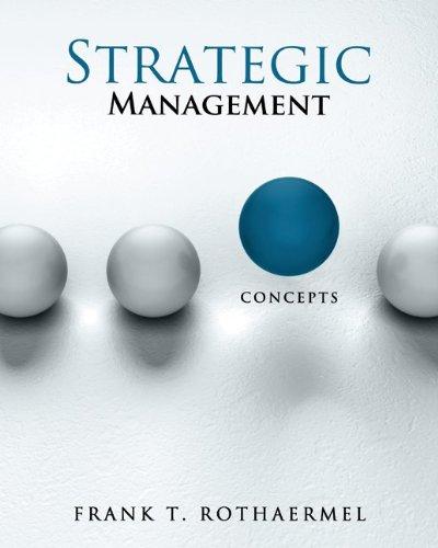 Strategic Management Concepts  2013 edition cover
