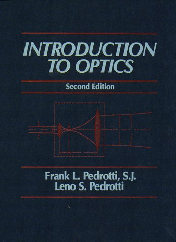 Introduction to Optics  2nd 1993 edition cover