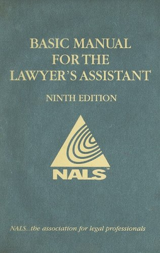 Nals Basic Manual for the Lawyer's Assistant: 9th 2007 edition cover