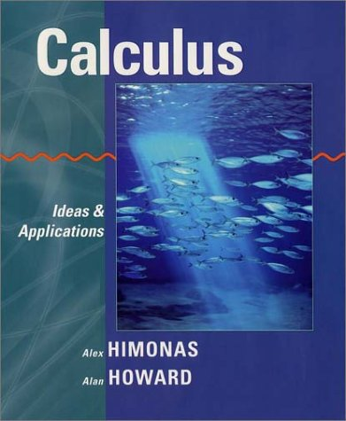 Calculus Ideas and Applications  2003 9780471401452 Front Cover
