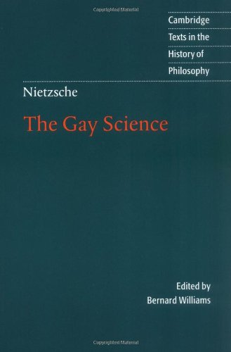 Nietzsche The Gay Science  2001 edition cover
