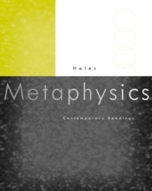 Metaphysics Contemporary Readings  1999 9780534551452 Front Cover