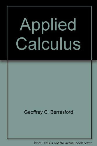 APPLIED CALCULUS >CUSTOM< 4th 2007 9780618813452 Front Cover