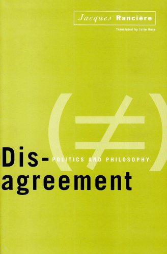 Disagreement Politics and Philosophy  1999 edition cover