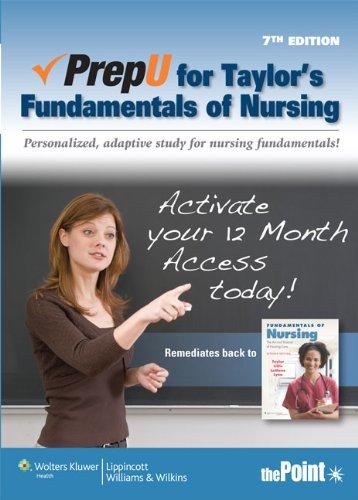 PrepU for Taylor's Fundamentals of Nursing  7th 2011 edition cover