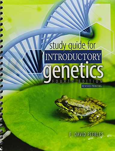 Study Guide for Introductory Genetics  4th (Revised) edition cover