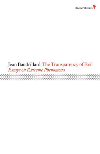 Transparency of Evil Essays on Extreme Phenomena  1990 edition cover