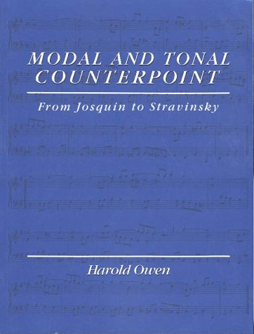 Modal and Tonal Counterpoint From Josquin to Stravinsky  1992 edition cover