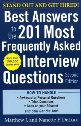 Best Answers to the 201 Most Frequently Asked Interview Questions  2nd 2010 edition cover