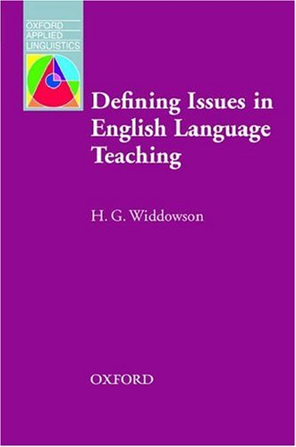 Defining Issues in English Language Teaching   2003 edition cover