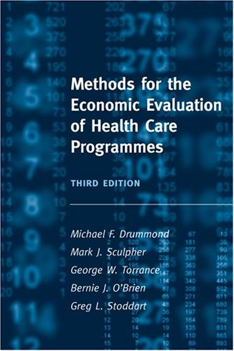 Methods for the Economic Evaluation of Health Care Programmes  3rd 2005 (Revised) edition cover