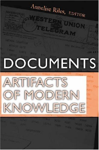 Documents Artifacts of Modern Knowledge  2006 9780472069453 Front Cover