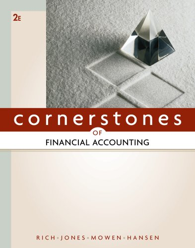Cornerstones of Financial Accounting  2nd 2012 edition cover