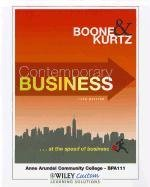 Contemporary Business 14th Edition for Anne Arundel Community College 14th 2011 9781118104453 Front Cover