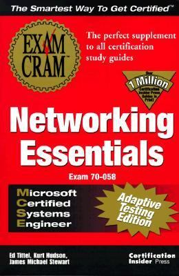 MCSE Networking Essentials Exam Cram : Adaptive Edition N/A 9781576104453 Front Cover