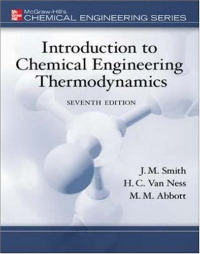 Introduction to Chemical Engineering Thermodynamics  7th 2005 (Revised) edition cover