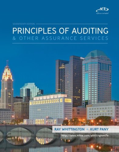 Principles of Auditing and Assurance Services with ACL Software CD  17th 2010 edition cover