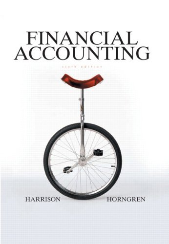 Financial Accounting  6th 2006 (Revised) 9780131499454 Front Cover