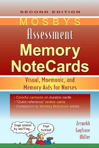 Mosby's Assessment Memory NoteCards Visual, Mnemonic, and Memory Aids for Nurses 2nd edition cover