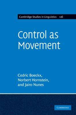 Control as Movement   2010 9780521195454 Front Cover