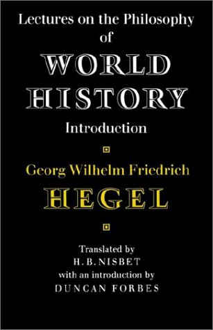 Lectures on the Philosophy of World History   1975 edition cover