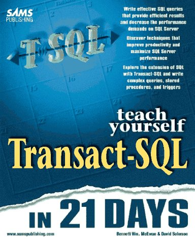 Transact-SQL   1997 9780672310454 Front Cover