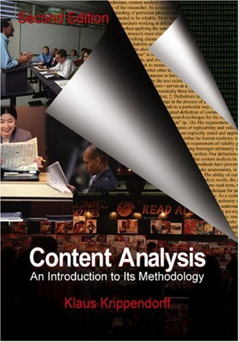 Content Analysis An Introduction to Its Methodology 2nd 2004 (Revised) edition cover
