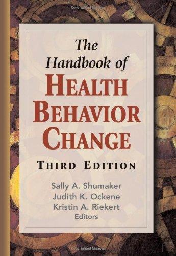 Handbook of Health Behavior Change  3rd 2008 edition cover