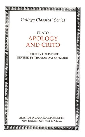 Apology of Socrates and Crito  Reprint edition cover