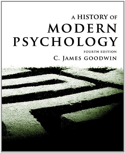 History of Modern Psychology  4th 2012 edition cover