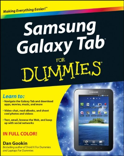 Samsung Galaxy Tab for Dummies   2011 9781118024454 Front Cover