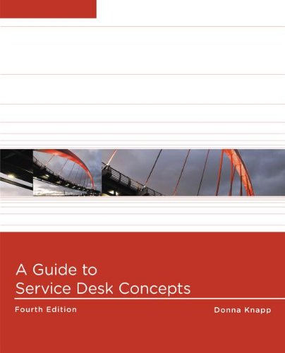 A Guide to Service Desk Concepts:   2013 edition cover