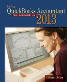 Using Quickbooks Accountant 2013: With Cd-rom and Data File Cd-rom 12th 2013 edition cover