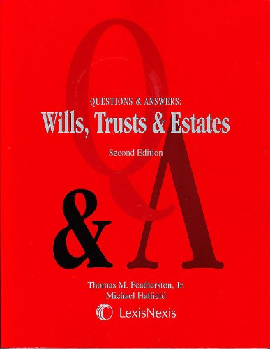 QUESTIONS+ANSWERS WILLS,TRUST, 2nd 2008 edition cover