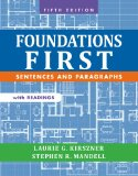 Foundations First With Readings: Sentences and Paragraphs  2014 edition cover