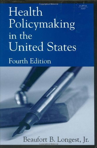Health Policymaking in the United States  4th 2005 edition cover