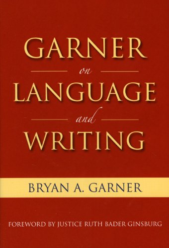 Garner on Language and Writing   2009 edition cover