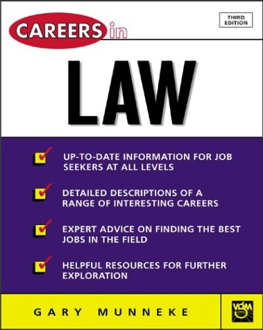 Careers in Law  3rd 2004 (Revised) edition cover