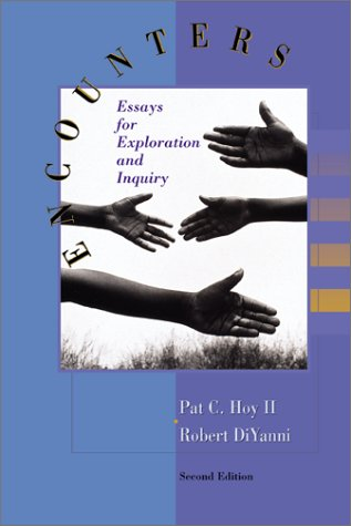 Encounters Essays for Exploration and Inquiry 2nd 2000 (Revised) 9780072290455 Front Cover