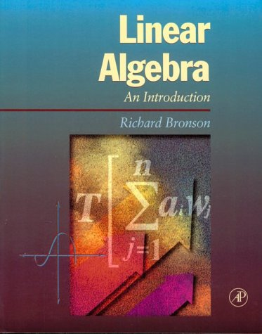 Linear Algebra An Introduction  1995 9780121352455 Front Cover