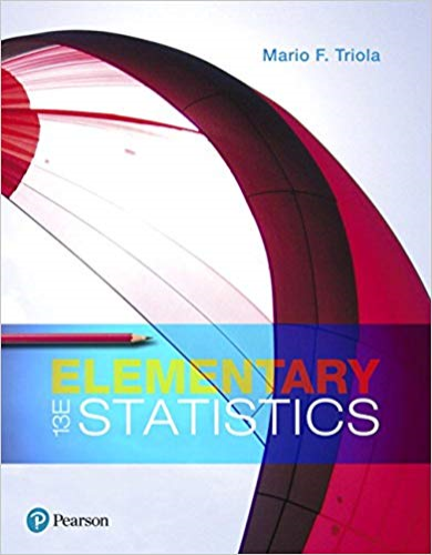 Elementary Statistics  13th 2018 edition cover