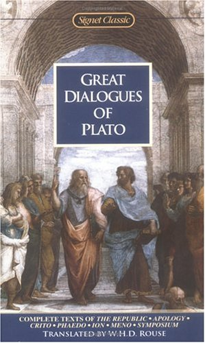 Great Dialogues of Plato Complete Texts of the Republic, Apology, Crito Phaido, Ion and Meno  1984 edition cover