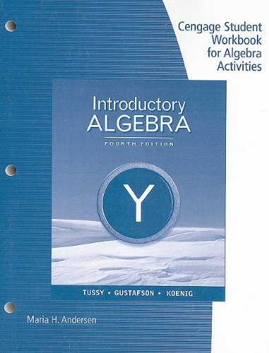 Introductory Algebra  4th 2011 (Workbook) 9780538495455 Front Cover