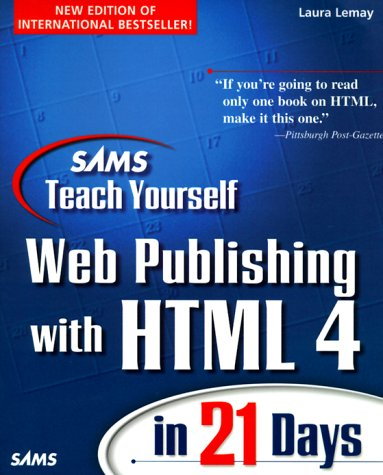 Web Publishing With HTML 4   1998 9780672313455 Front Cover
