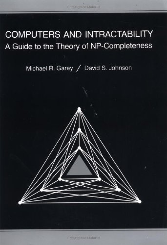 Computers and Intractability A Guide to the Theory of NP-Completeness  1979 edition cover
