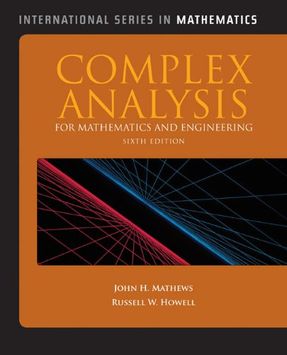 Complex Analysis for Mathematics and Engineering  6th 2012 edition cover
