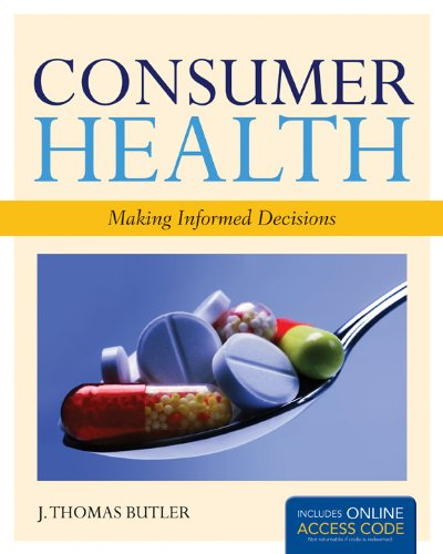 Consumer Health: Making Informed Decisions   2012 edition cover